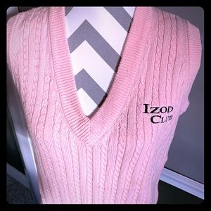 Izod Club Peach Pink Golf Vest Sweater